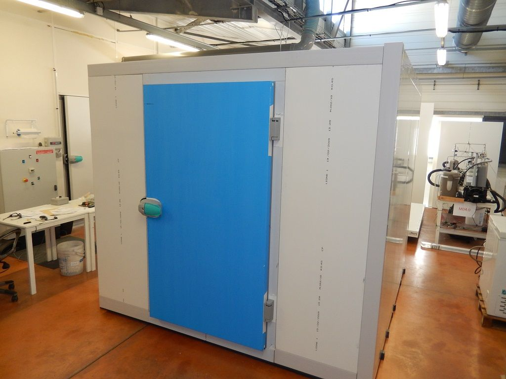 The FREECOLD solar-powered cold room once assembly is finished