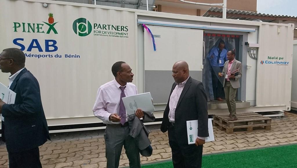28/02/2019, inauguration de la chambre froide solaire COLDINNOV à l'aéroport de Cotonou (Bénin)