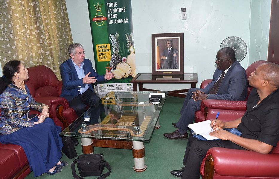 Presentation of the project to Mr. Gaston Dossouhoui, Minister of Agriculture, Livestock and Fisheries of Benin (March 2018)