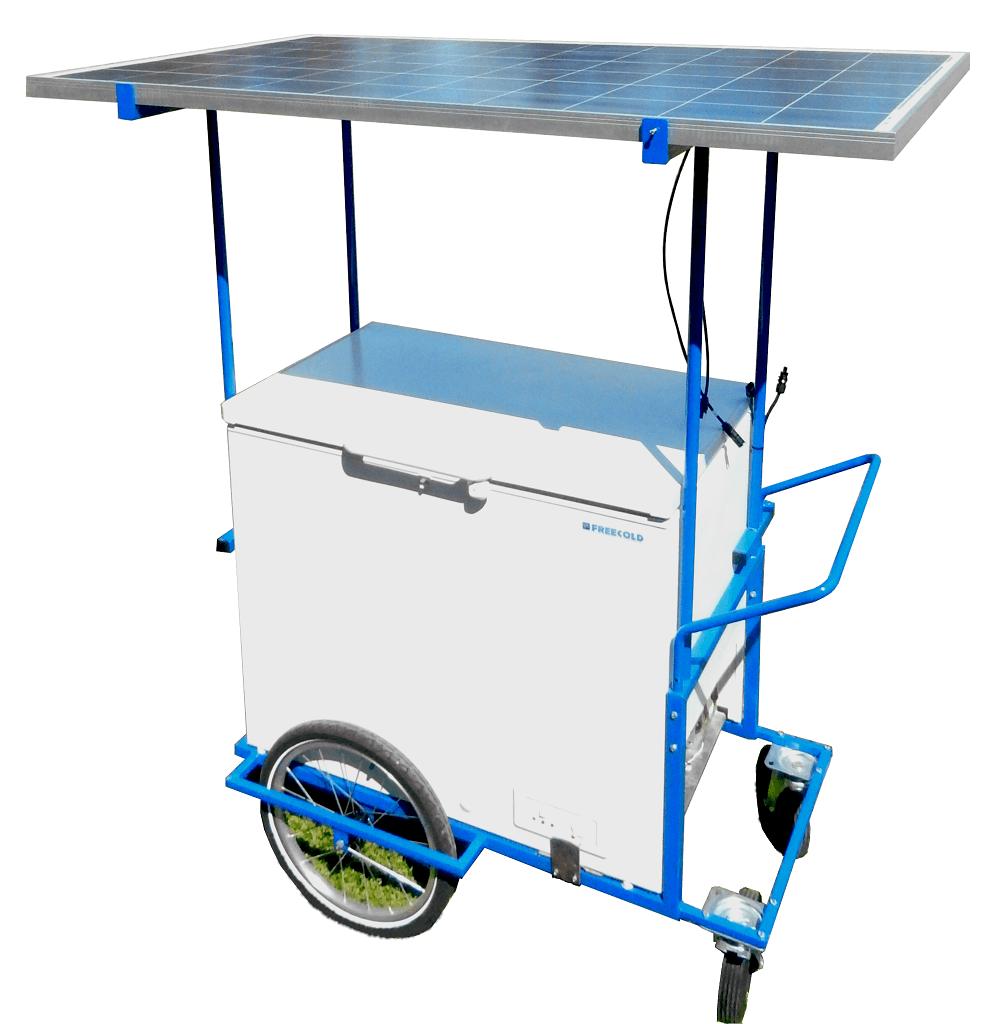FrigoMobile FREECOLD, réfrigérateur / congélateur solaire et mobile pour la vente ambulante