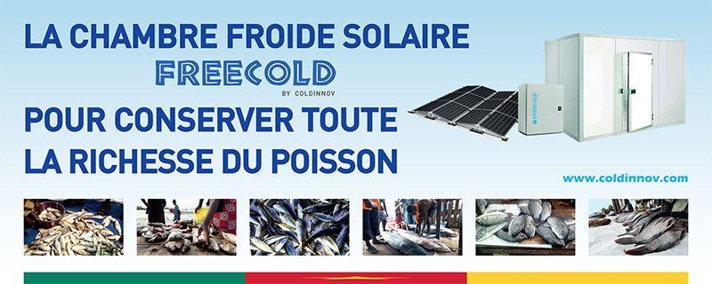 Poster chambre froide solaire FREECOLD, pour conserver toute la richesse du poisson; SIALY 2019